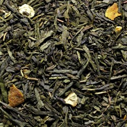 Sencha-Lemon green Tea mit Schalen