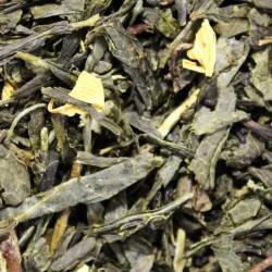 Sencha Mango Green Tea mit Blüten